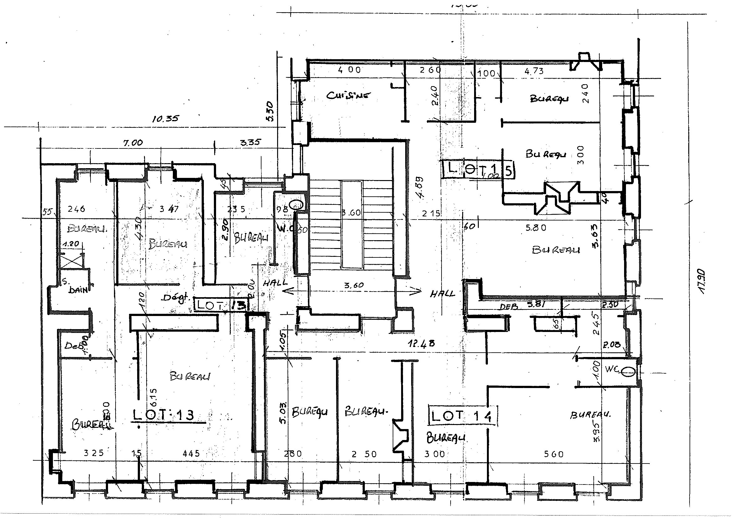 plan appartement cote